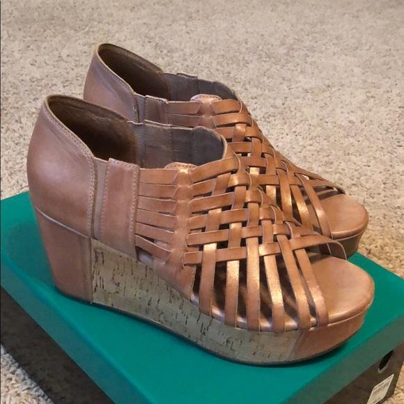 57be32a253ef chocolat blu Shoes - Chocolat Blu Web Moka Leather Wedges!